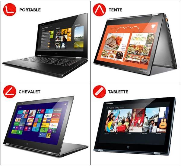 Lenovo Yoga 2 Pro ultrabook hybride tablette