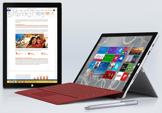 photo PC tablette hybride Microsoft Surface Pro 3